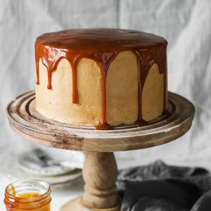 This gluten-free Salted Caramel Chocolate Espresso Cake is one of my favourite cakes from the cake stall. A chocolate lover's sponge sandwiched together with silky salted caramel swiss meringue buttercream and drizzled with thick luscious salted caramel.