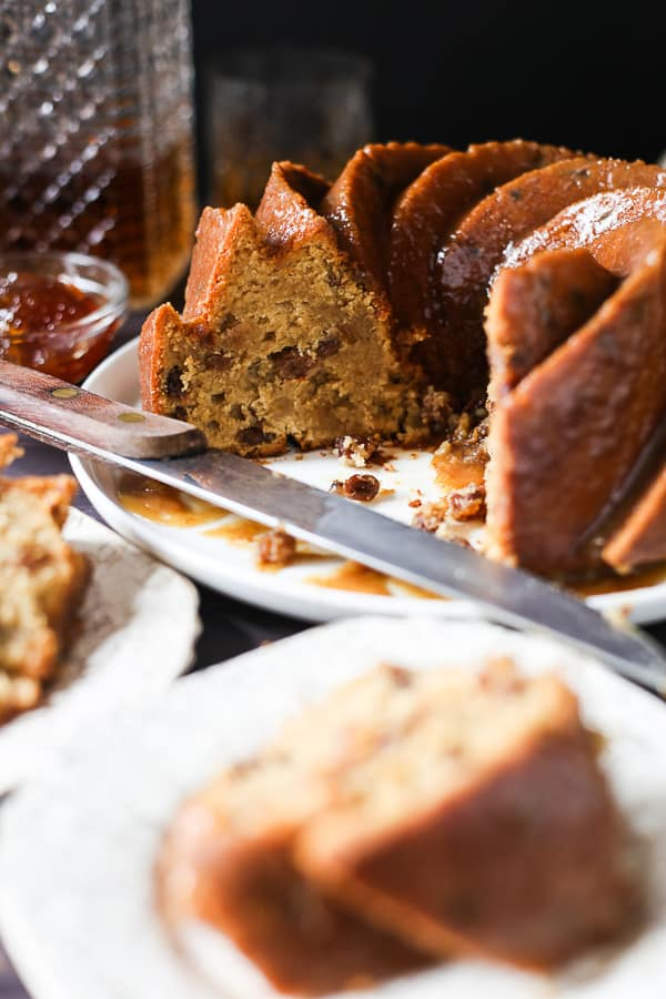 This gluten-free Whisky Marmalade Bundt is such a deeply rich and warming cake, woodsy from whisky drenched sultanas and tangy from this year's Seville orange marmalade.