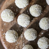 These Coconut Lime Energy Balls are the perfect snack when you need a boost. There is no sugar in them at all, refined, fruit or fake but instead loads of plant protein and of course plenty of yumminess.