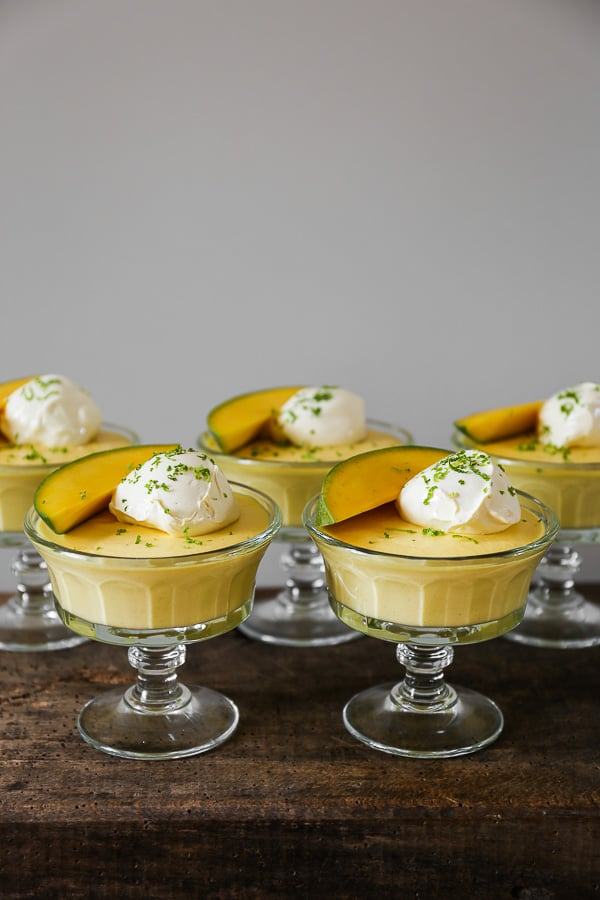 Mango Lime Pudding is an ideal way to end a meal, both rich and refreshing, but also incredibly quick and easy to make in advance.