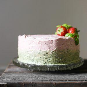 A beautiful Strawberry Sweet Pesto Cake {gluten-free}
