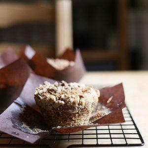 Banana Peanut Butter Streusel Muffins {vegan, gluten-free}