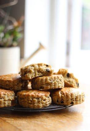 Gluten-Free Cheddar Olive Buttermilk Scones