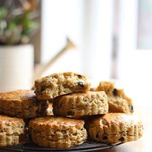 Cheddar Olive Buttermilk Scones {gluten-free}