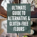 Collection of images of gluten-free flours with text overlay