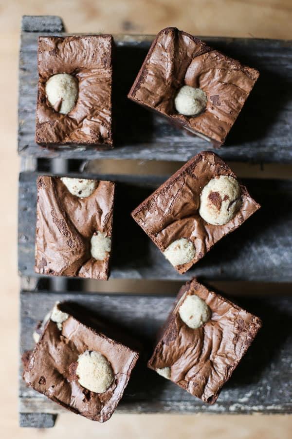 Choc Chip Cookie Dough Brownies {gluten-free}