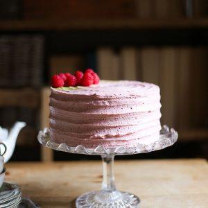 Raspberry Matcha Cake {gluten-free}