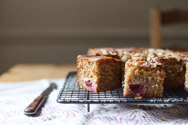 Plum Brown Butter Almond Cake