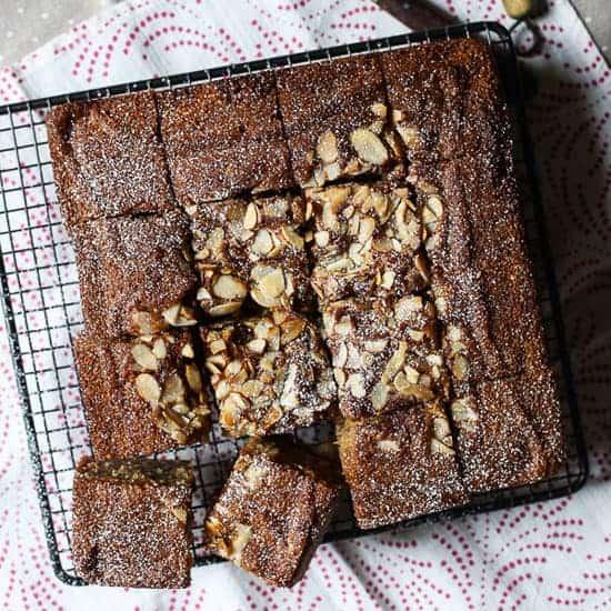 Plum Brown Butter Almond Cake