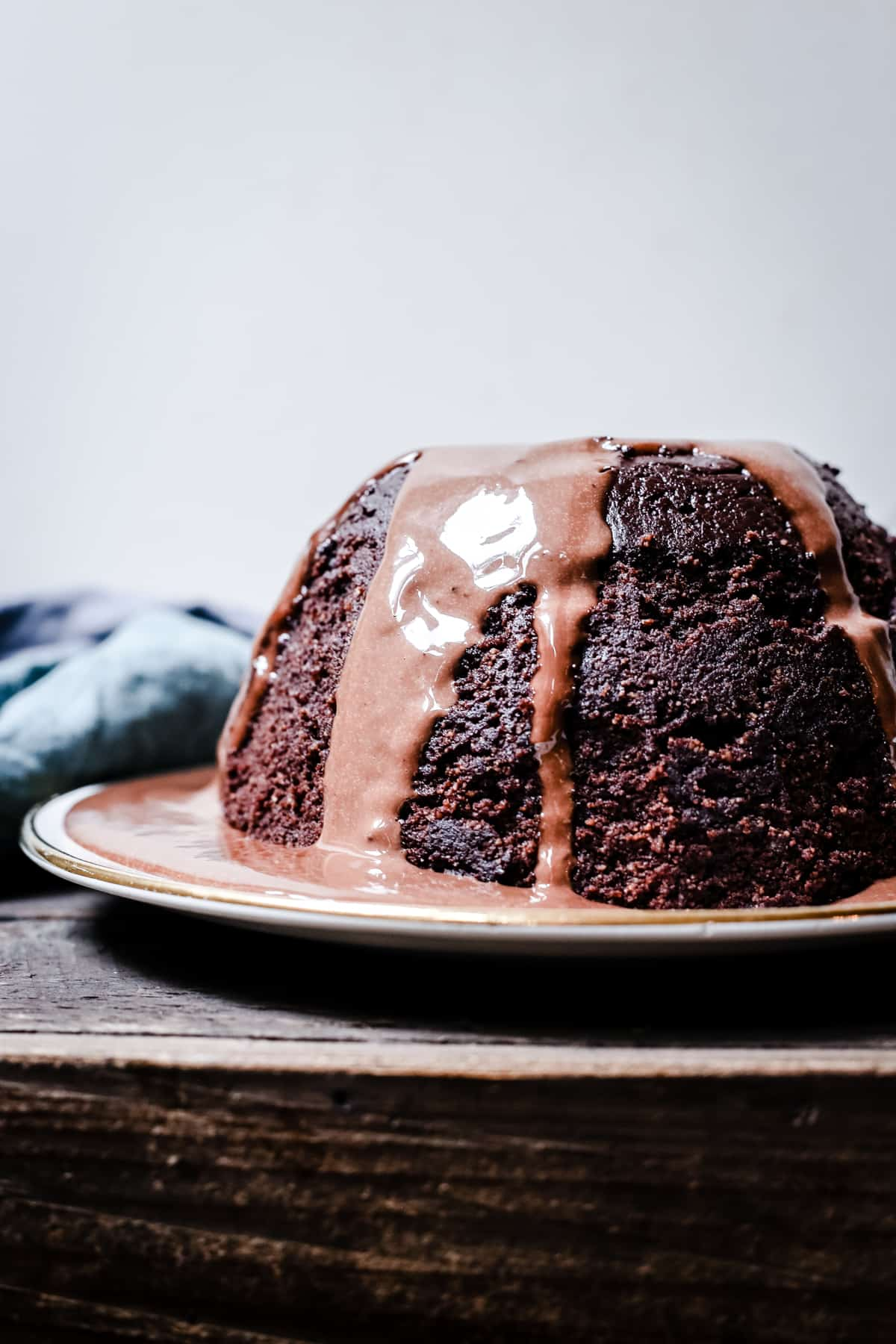 Steamed Chocolate Sponge Pudding with Chocolate Custard {gluten-free}