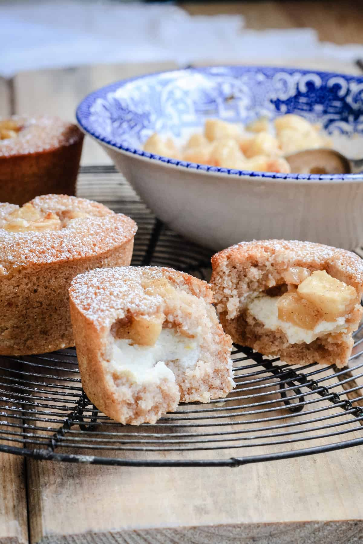 Apple Cinnamon Ricotta Friands {gluten-free}