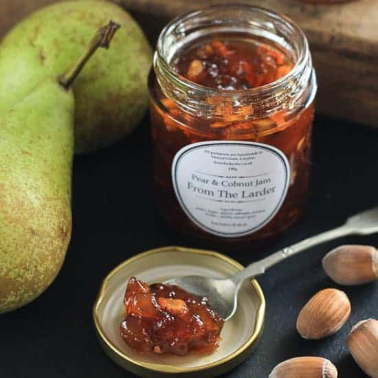Pear and Cobnut Jam