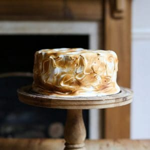 Toasted Marshmallow Spiced Pumpkin Cake {gluten-free}