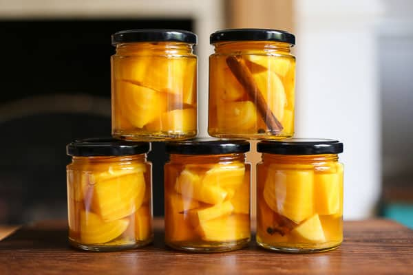 Pickled Golden Beetroot