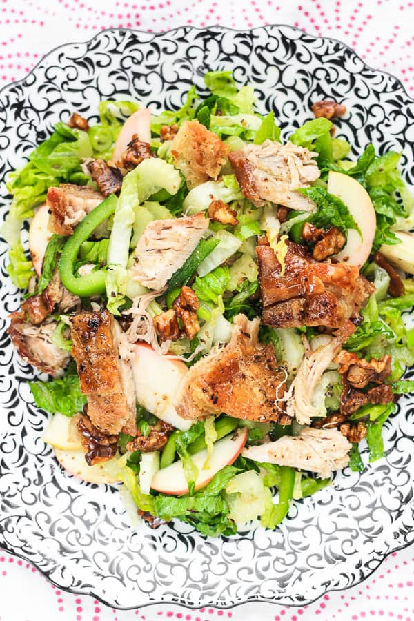 Roast Pork Belly, Apple and Caramelised Walnut Salad