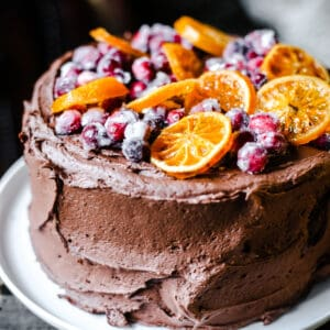 Chocolate Cranberry & Clementine Cake