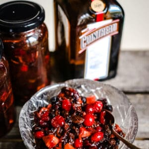 Boozy Cranberry Mincemeat with Cointreau