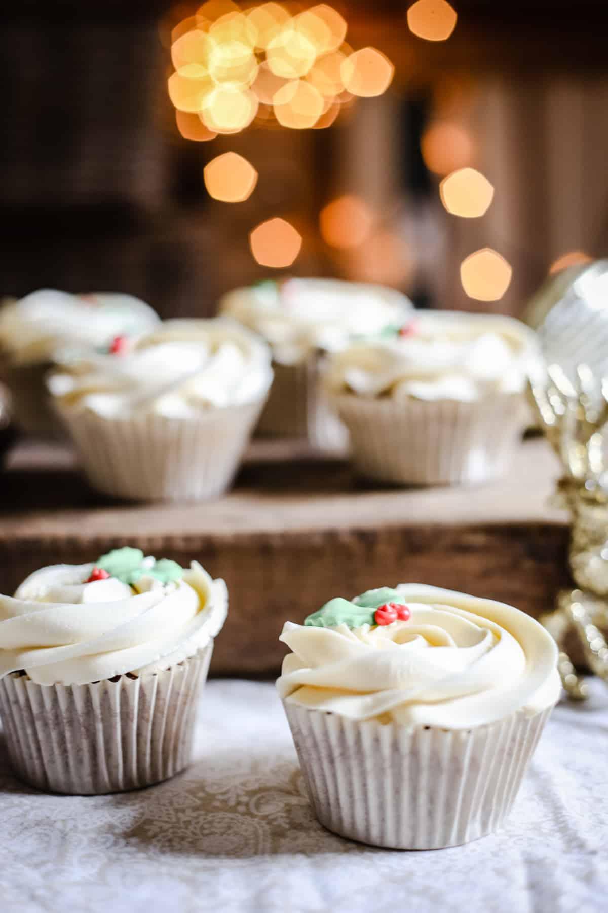 Mince Pie Cupcakes with Brandy Buttercream {gluten-free}