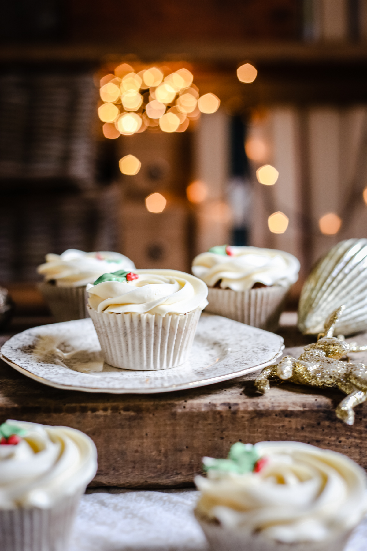 Mince Pie Cupcakes with Brandy Buttercream {gluten-free}