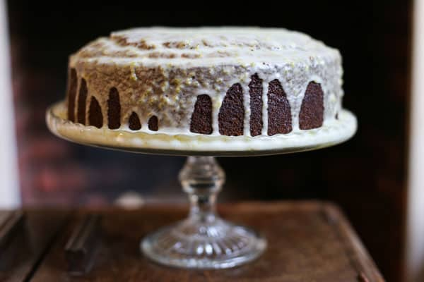 Sticky Ginger and Whisky Cake with Lime Drizzle {gluten-free}