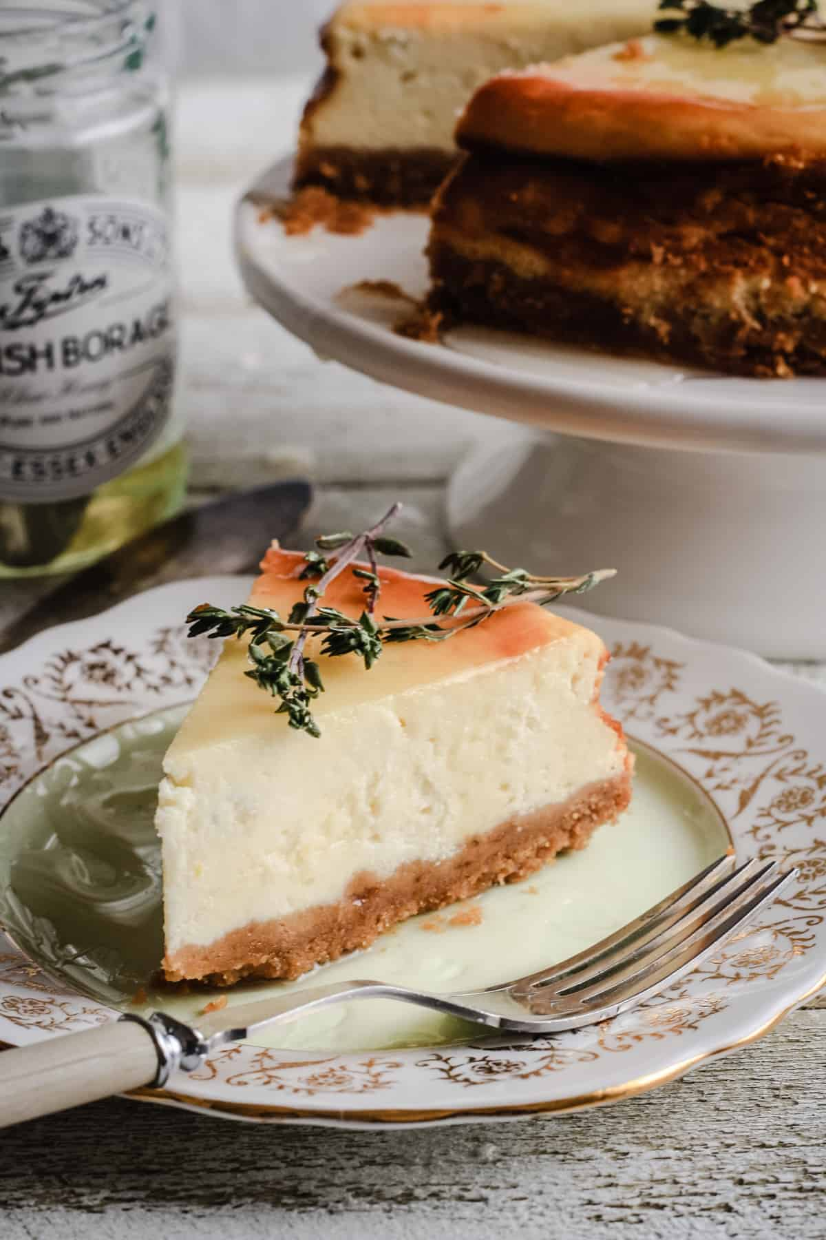 Goats Cheese, Honey and Thyme Cheesecake