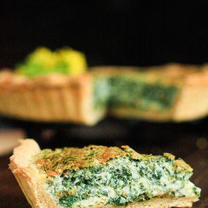 Nettle Leaf and Cheddar Tart {gluten-free}