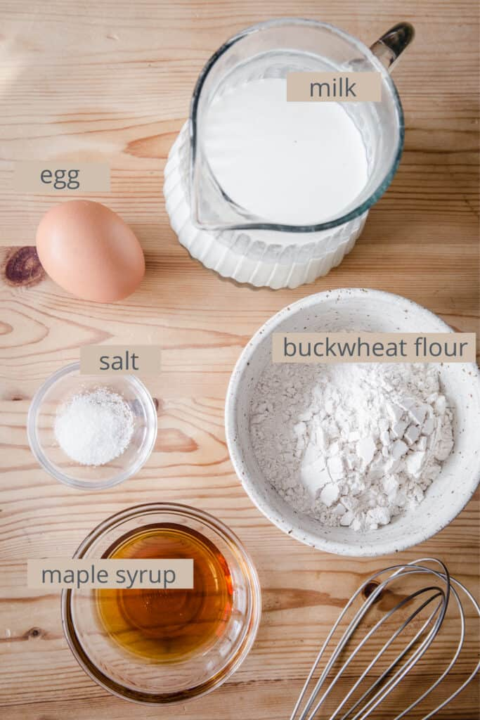 ingredients for buckwheat galette