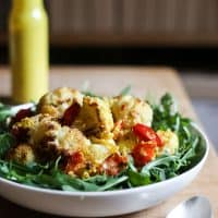 Roasted Cauliflower Salad with Tahini Turmeric Dressing