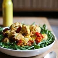 Roasted Cauliflower Salad with Tahini Turmeric Dressing