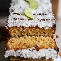 Coconut Lime Drizzle Cake {gluten-free}
