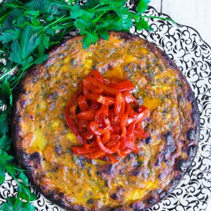 Sweet Potato Feta Tortilla
