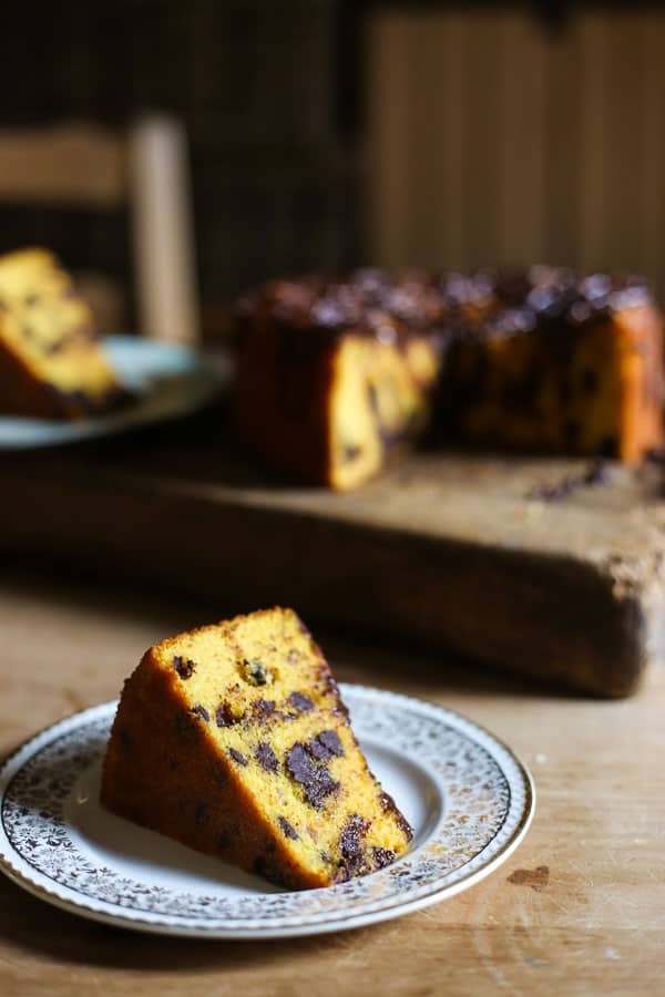 Whole Orange Chocolate Chip Cake {gluten-free}