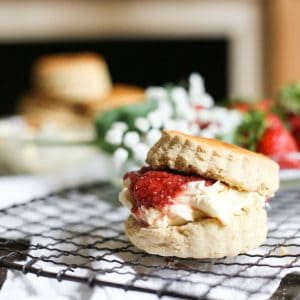 Gluten-Free Scones with Quick Strawberry Jam and Clotted Cream