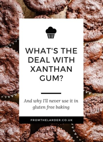 Pin image saying What's the deal with Xanthan Gum