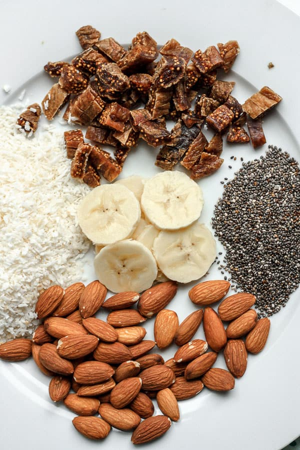 ingredients for Grain-Free Coconut Chia Porridge