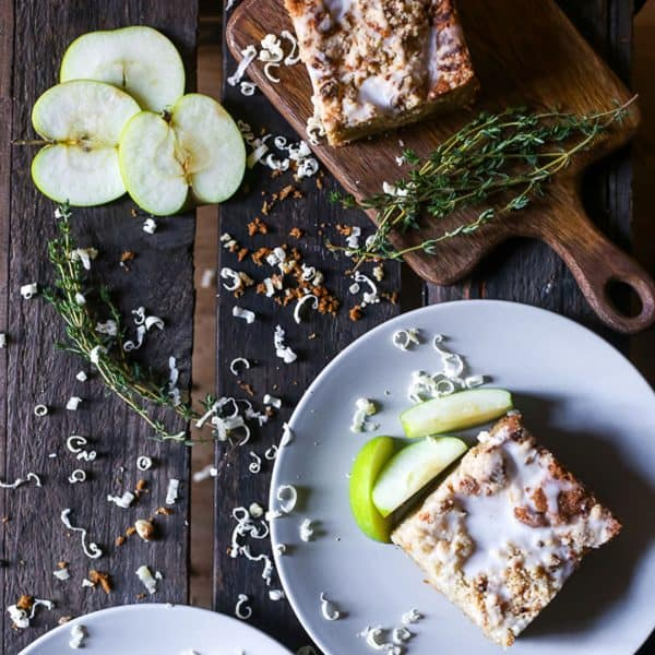 Apple Cheddar Thyme Crumble Cake