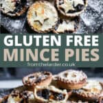 Pin of 2 images of a plate full of mince pies. With title in between.