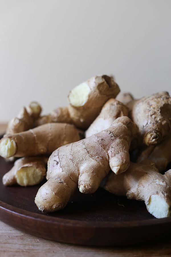 A plate of stem ginger