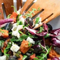 Spiced Roast Squash and Goats Cheese Salad