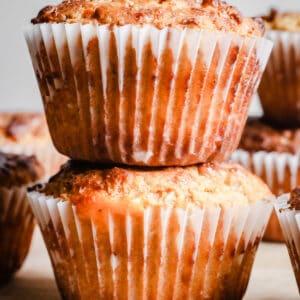 Cheesy Oat Bacon Breakfast Muffins {gluten-free}