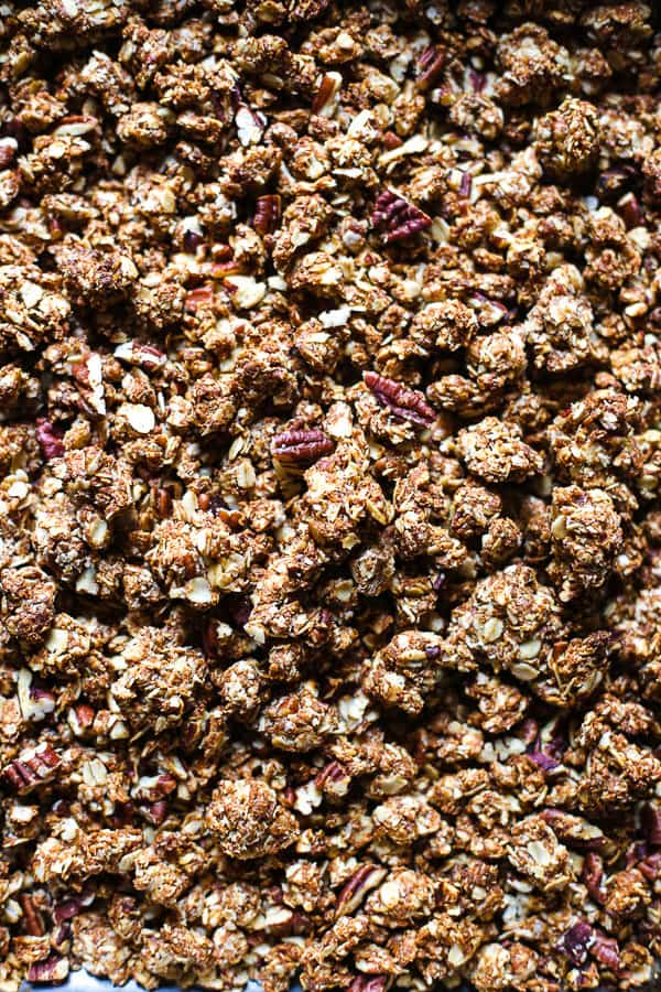 close up view of Pecan Espresso Granola