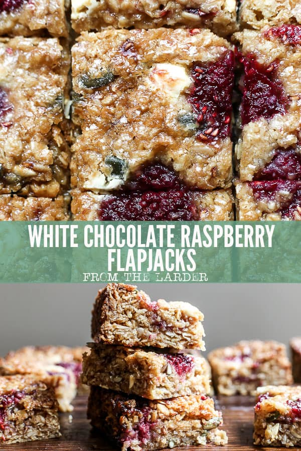 Pinable image of White Chocolate Raspberry Flapjacks