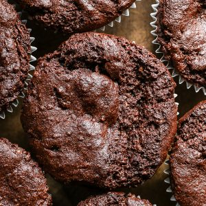 Chocolate Courgette Muffins {vegan, gluten-free}