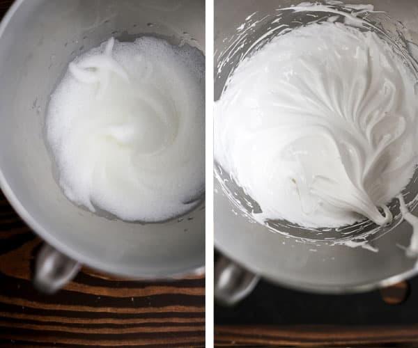 Process shot of meringues