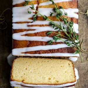 Whole Lemon Thyme Cake {gluten-free}