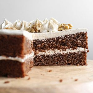 Gluten-Free Coffee and Walnut Cake