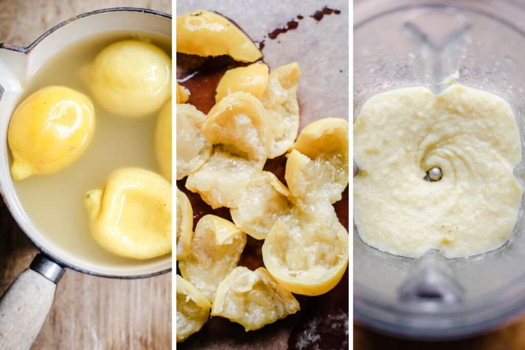 Whole Lemon Cake process shot