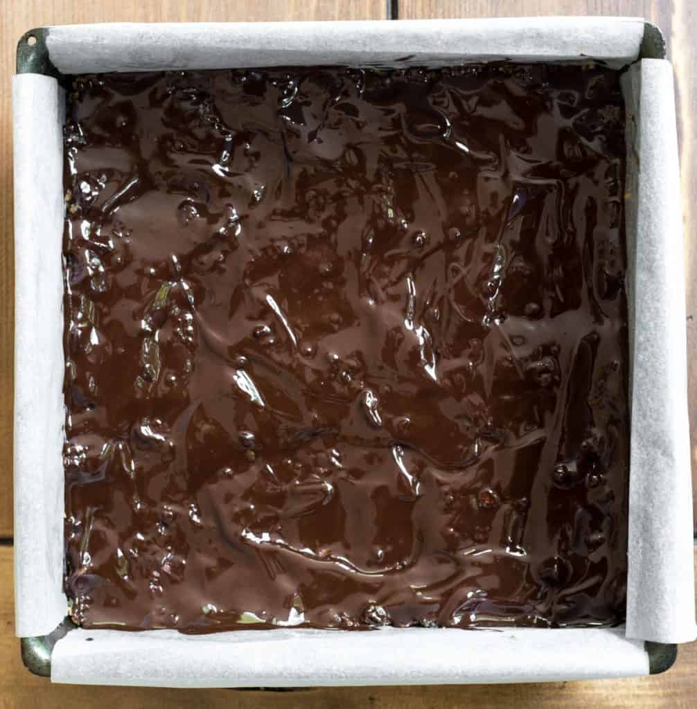 Process image for making Chocolate Tiffin