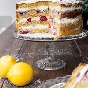 Lemon Raspberry Cake {gluten-free}
