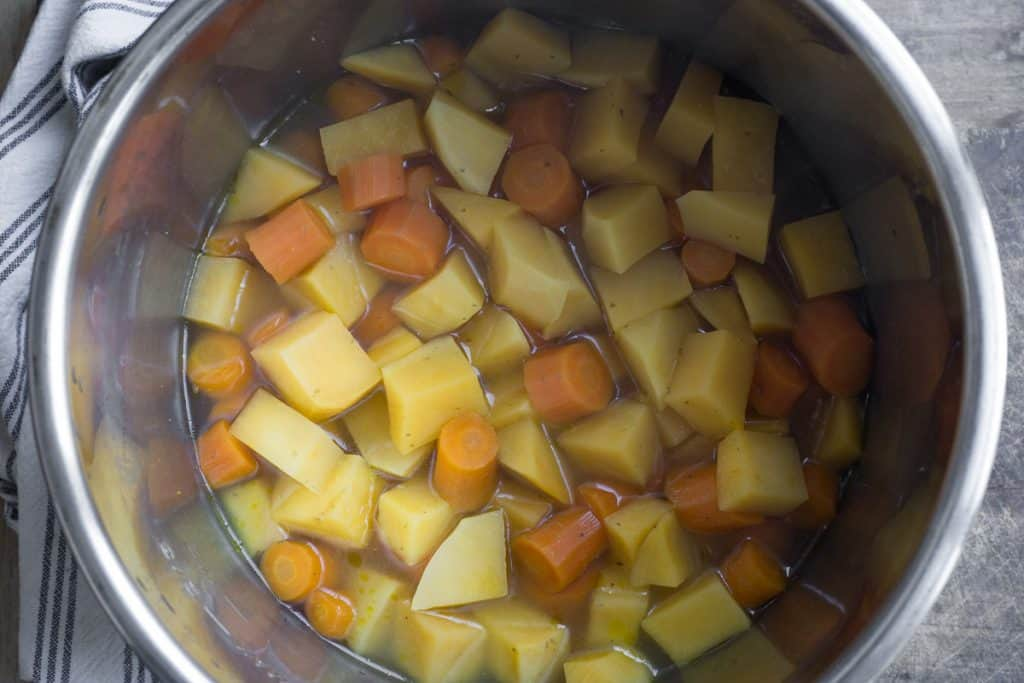 Carrot and Swede in the Instant Pot